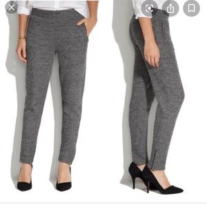 Madewell ankle zip slouch pants
